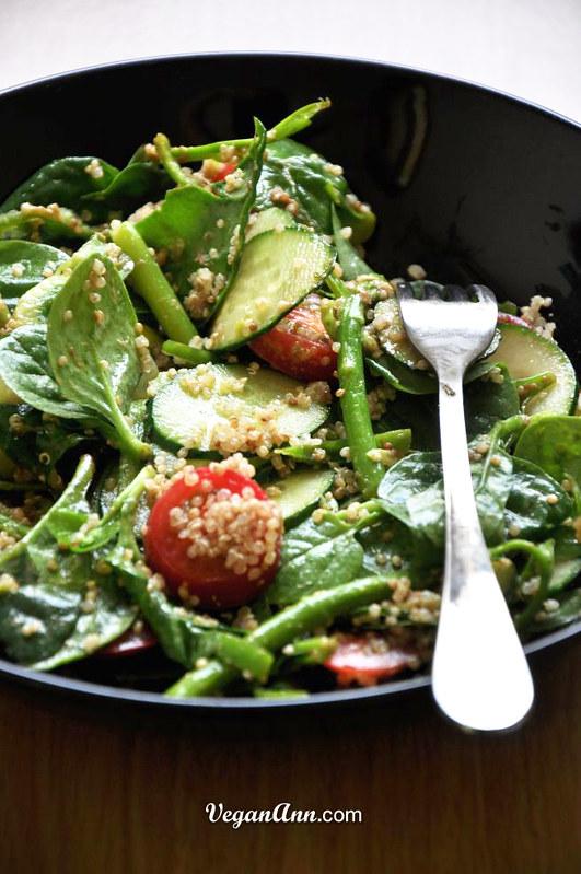 Quinoa Edamame Salad with Sesame Dressing | VeganAnn