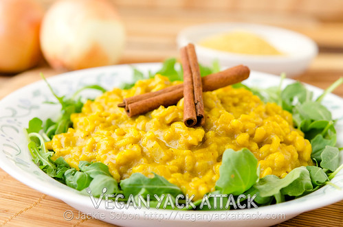 This Pumpkin Curry Risotto is a warming combination of curry and arborio rice, plus the addition of seasonal pumpkin, making this dish delectable.