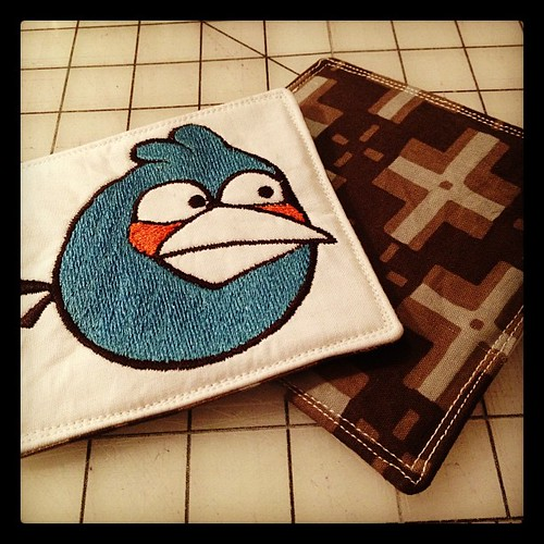 #handmade #angrybirds coasters for my brother @davidmannie07 #sewing