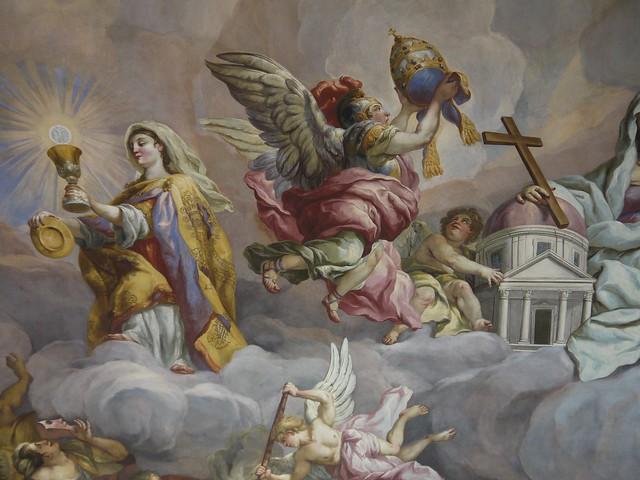 07 St Charles's Church里可以乘电梯观赏的天顶画