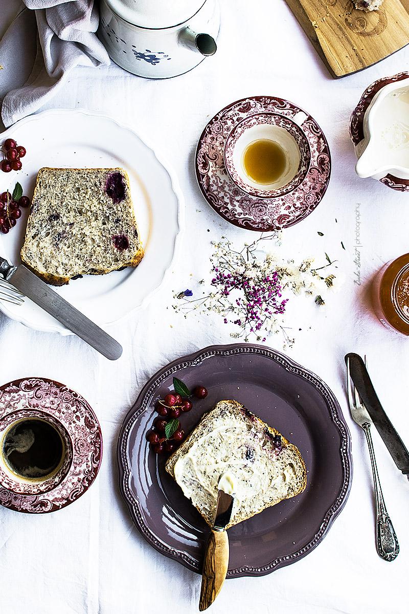 Pan de molde de yogurt, amapola y arándanosarandanos-11