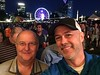 Tagged! Jörg and I ready to chow down on dinner at Microsoft Ignite Party in Centennial Olympic Park.