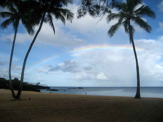 Rainbow @ Waimea Bay