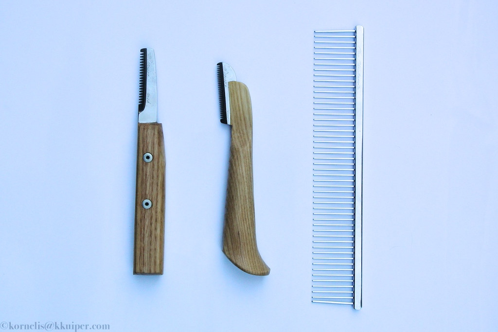 Tools I use to groom the jacket