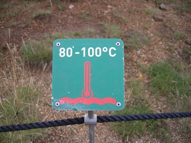 geysir 80 - 100 ºC islandia iceland