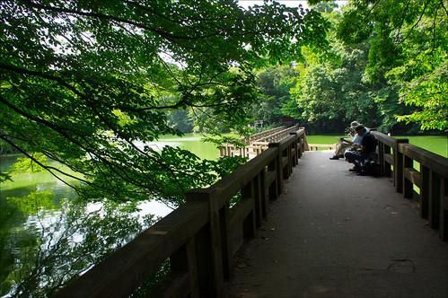 Parque Inokashira: pintores pintando acuarelas