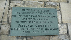 Photo of Fletcher Christian and William Wordsworth slate plaque