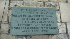 Photo of Fletcher Christian and William Wordsworth slate plaque