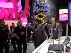 Informationen über LTE auf dem Stand der Deutschen Telekom (IFA 2012)