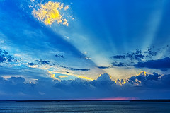 [フリー画像素材] 自然風景, 海, 空, 雲, 薄明光線, 青色・ブルー ID:201209142000