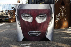 Pussy Riot - Vladimir Vladimirovich Putin, painted portrait - IMG_2450