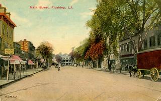 New York - Flushing (1910 Postcard)