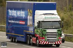Scania R420 6x2 Tractor - PO11 ZYS - Kim Annette - Green & Red - Eddie Stobart - M1 J10 Luton - Steven Gray - IMG_6080