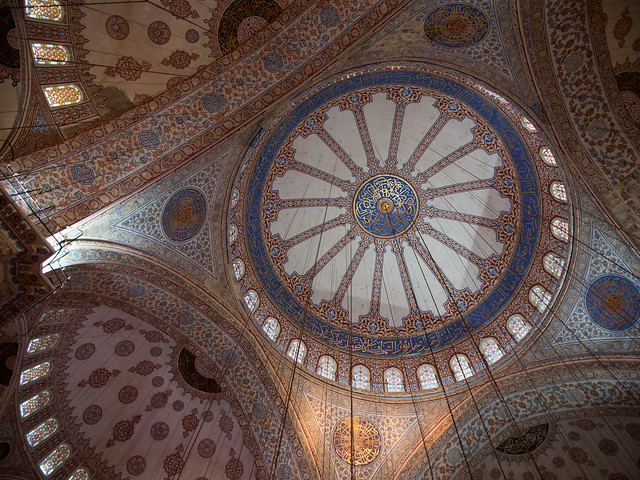 Ceiling inside Blue Mosque