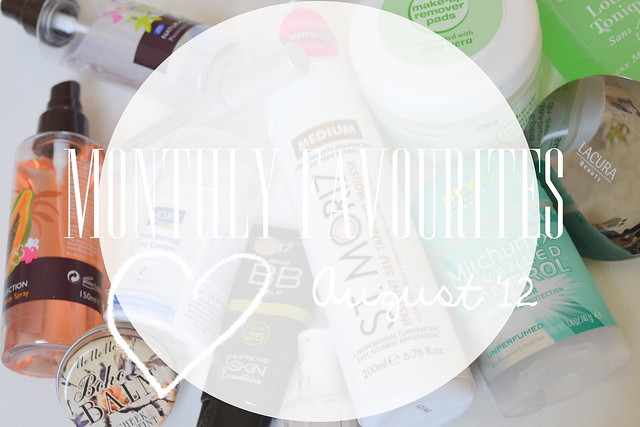 monthly favourites title august 12