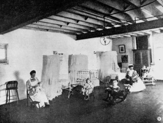 Interior view of the Brisbane Institute of Social Service, 1907