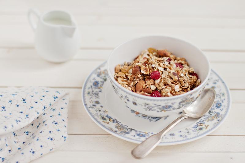 Breakfast. homemade granola
