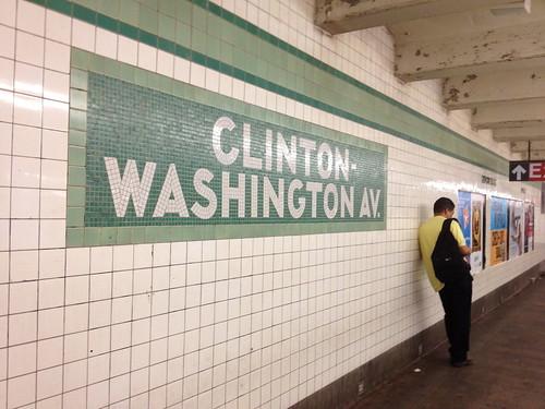 滞在先の最寄り駅、CLINTON-WASHINGTON Av.