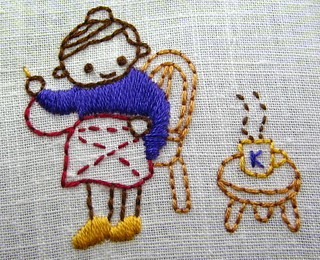 september color challenge--japanese embroidery
