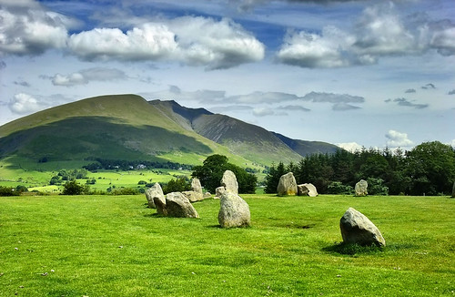 A portion of Castlerigg Stone Circle, England, UK