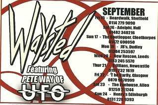 09/15/06 - 09/24/06 Waysted U.K. Tour Ad