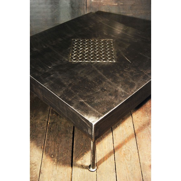 Table basse industrielle t04 flickr photo sharing - Table basse verre roulette industrielle ...