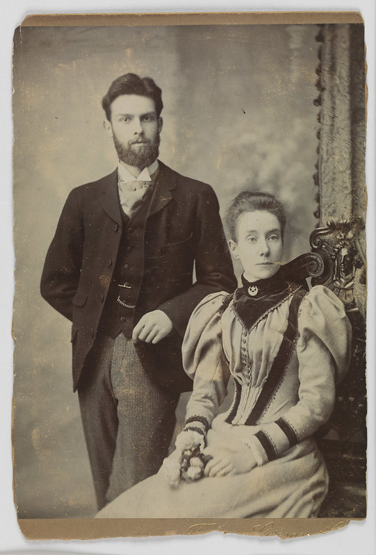 Picture believed to be Edward Turner (1873-1903) and Edith Turner (1867-1962), c.1896