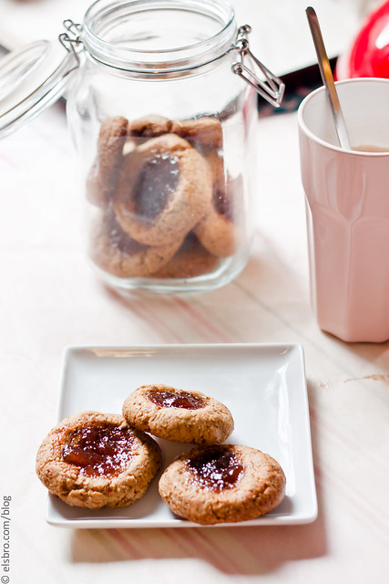 Fig and Pistachio Thumbprint Cookies
