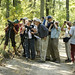 Naturetrek group watching Grey-headed Woodpecker in Goritza Woodland (Assen Ignatov)