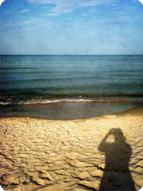 shadow on beach
