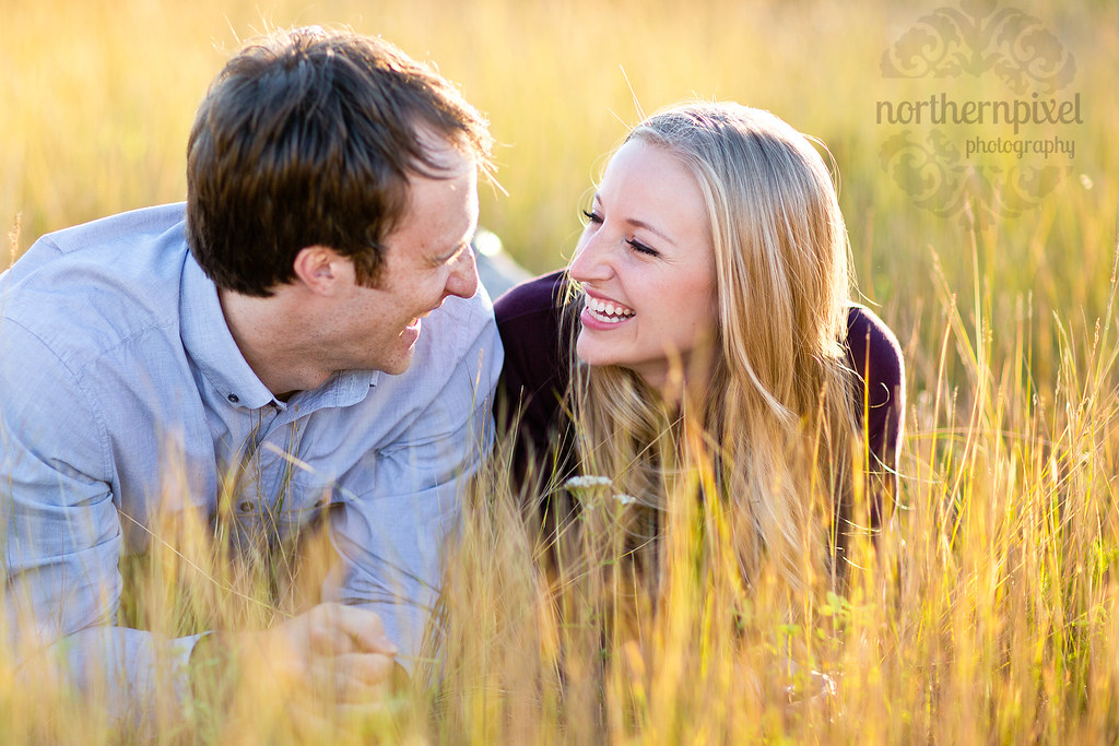 Engagement Photos - Prince George British Columbia Cottonwood Island Park Happy