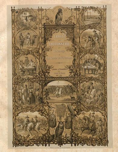 001-Portada- Traité de fauconnerie..1853- Hermann Schlegel- Universität Düsseldorf