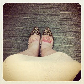 Pointy-toed & leopard print. #showyourshoes