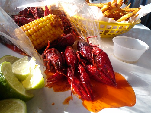 One Pound of Crawfish with Cajun Fries