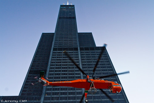 Erickson Air-Crane / Sears (Willis) Tower Downtown Chicag