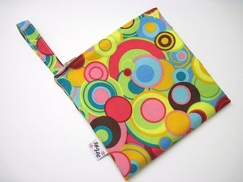 Bright Circles All Over Fabric New Style Mama Wet Bag