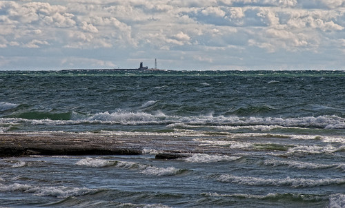 lighthouse clouds waves northbeach lakeontario princeedwardcounty pec scotchbonnet