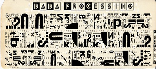 MODERN DADA PROCESSING CARD by Colonel Flick