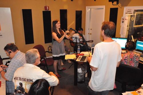 Sasha Masakowski performs in the studio! Photo Kichea S Burt.