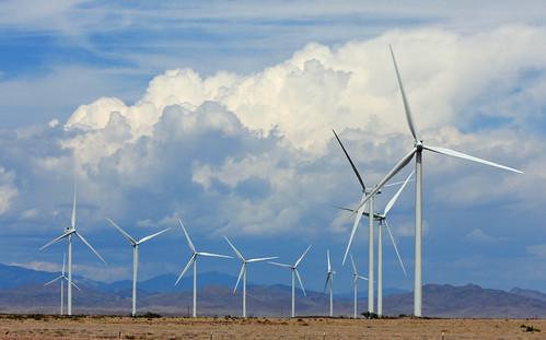 新墨西哥的風力發電裝置。(來源:J. N. Stuart)