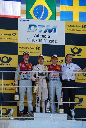 Podium DTM Valencia 2012