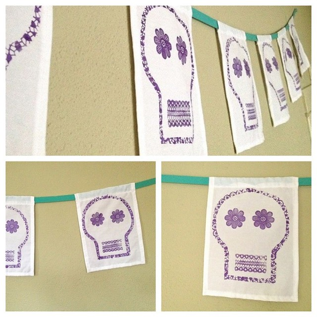 Dia de los Muertos Skull Banner