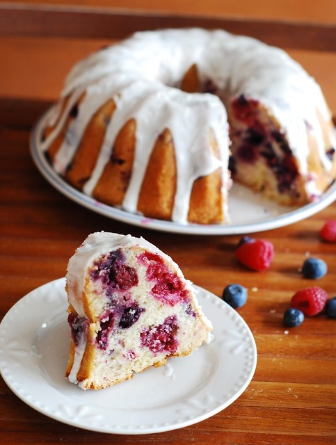 Mixed Berry Bundt Cake With Lemon Glaze Julia S Album