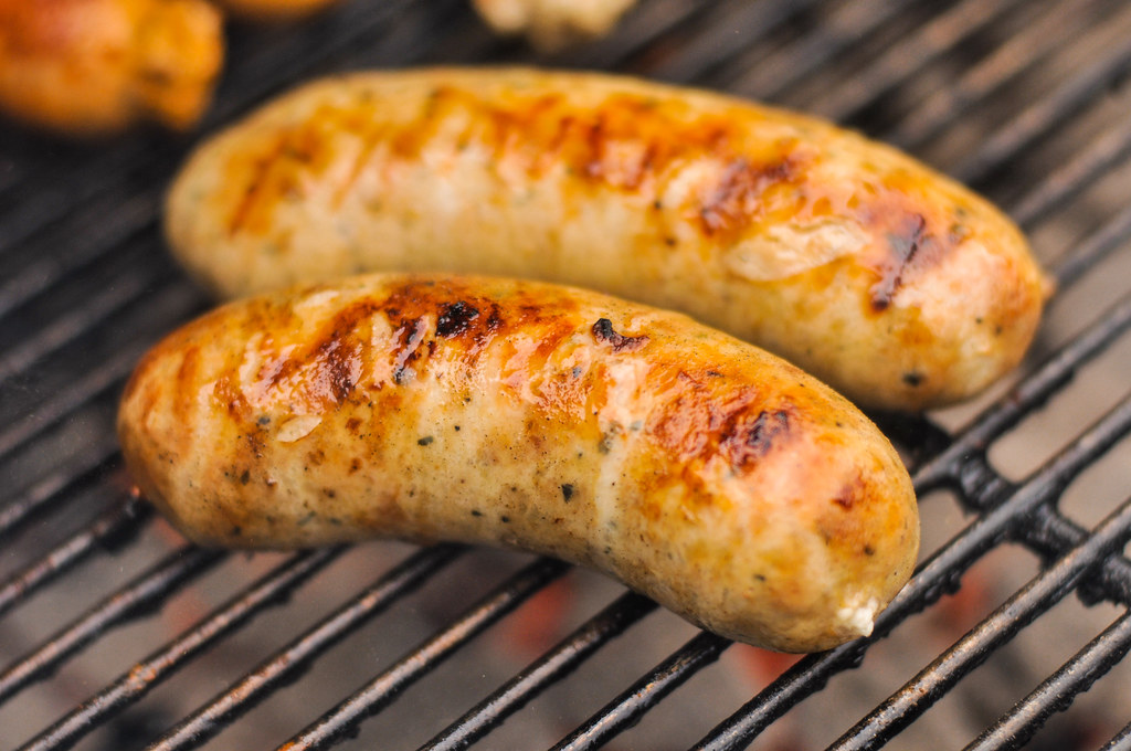 Roasted Garlic and Feta Chicken Sausage