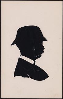 Silhouette of a man with a moustache / Silhouette d'un homme moustachu