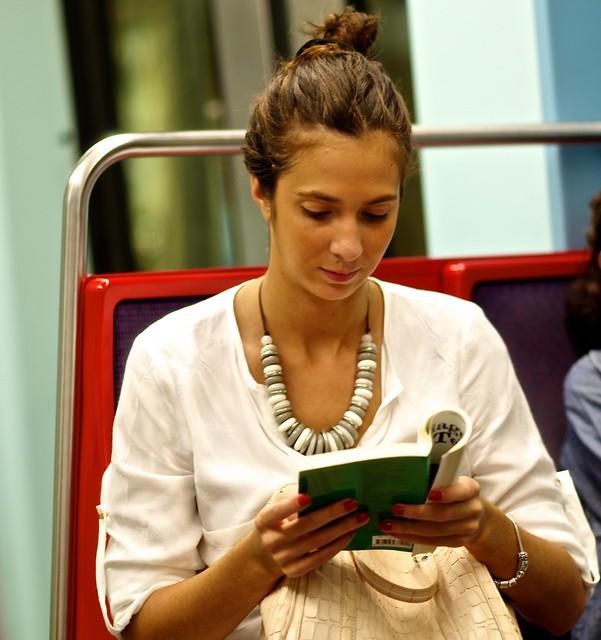 Reading at the Subway