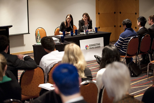 Jacinda Ardern and Julie Anne Genter attempting to keep up with the questions from students. An entire day devoted to this panel wouldn't have been enough.