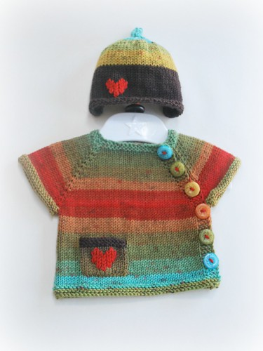 Newborn hat and cardigan
