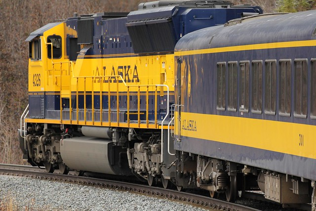 Locomotive - Alaska Railroad Aurora Winter Train