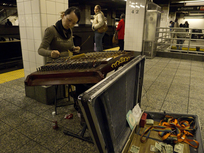 Chinese zither, 42nd Street
